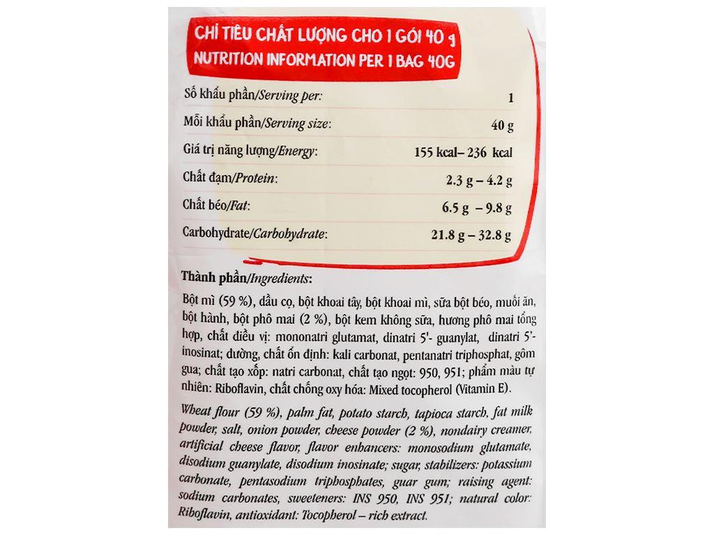 Snack mì vị phô mai Vifon gói 40g 3