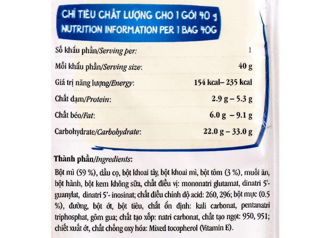 Snack mì vị hải sản chua cay Vifon gói 40g 3