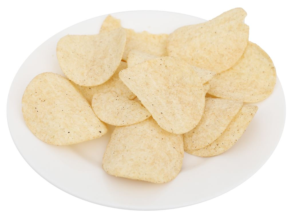 Snack khoai tây vị chanh tiêu đen Peke Potato Chips lon 80g 5