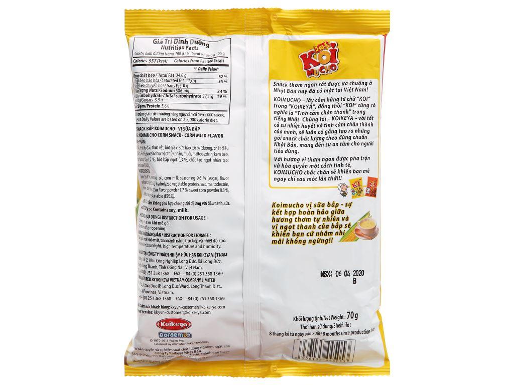 Snack bắp vị sữa bắp Koimucho gói 64g 2
