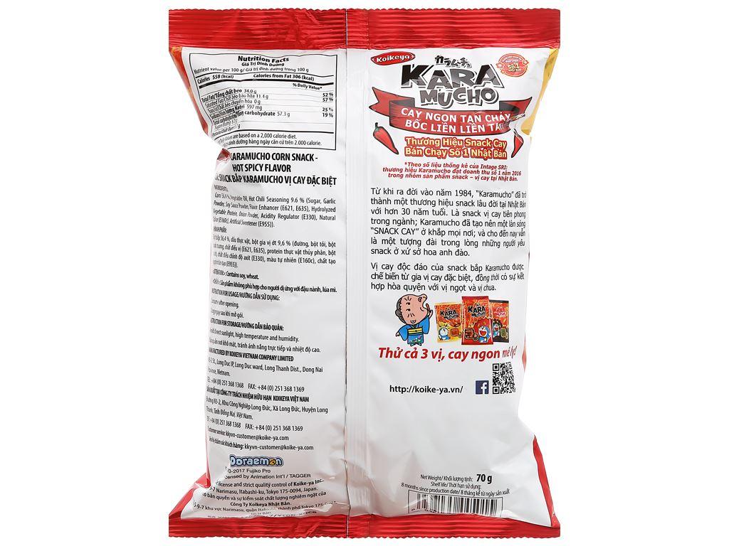 Snack khoai tây vị cay đặc biệt Karamucho gói 70g 2