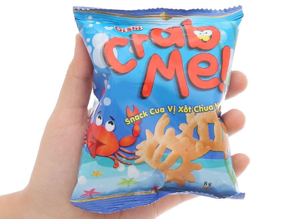 Snack cua vị sốt chua ngọt Oishi Crab Me gói 8g 5
