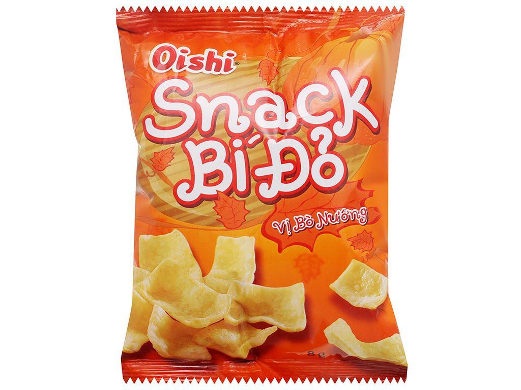 Snack bí đỏ vị bò nướng Oishi gói 8g 1