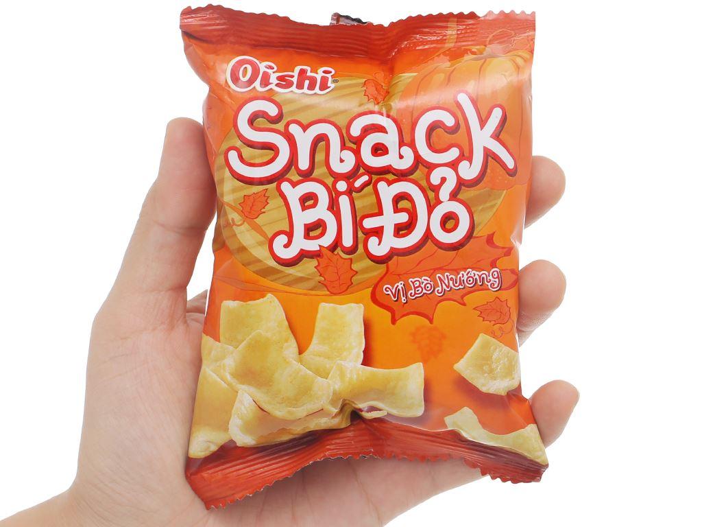 Snack bí đỏ vị bò nướng Oishi gói 8g 5