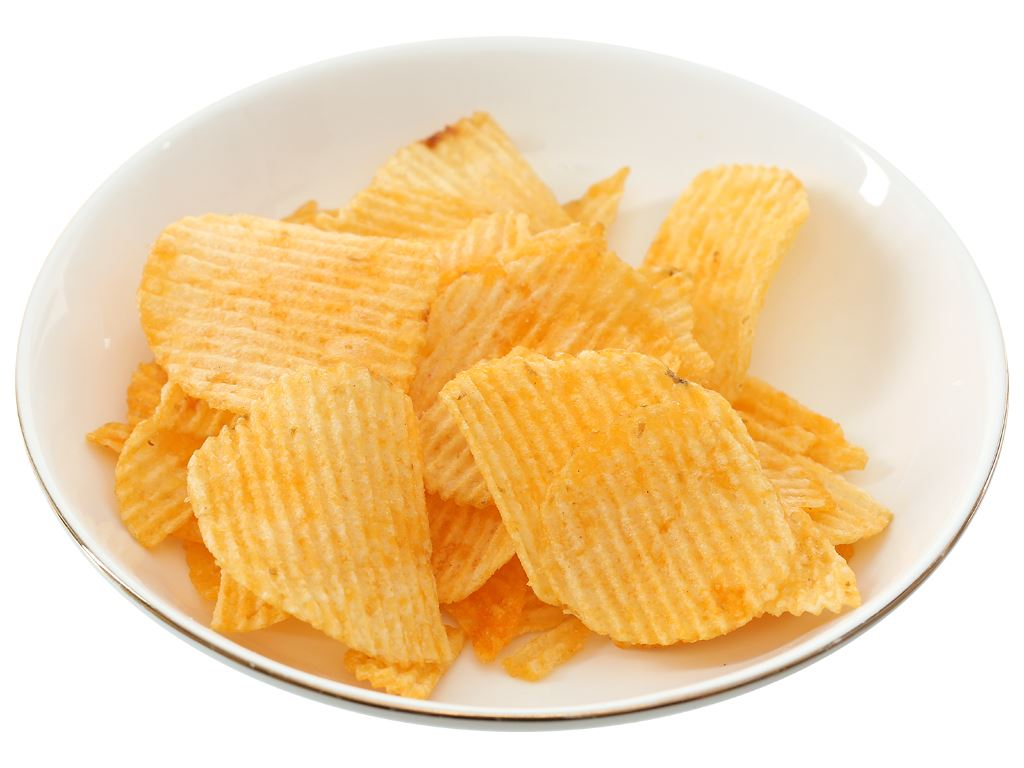 Snack khoai tây Lay's Wavy vị thăn bò nướng Texas gói 56g 5
