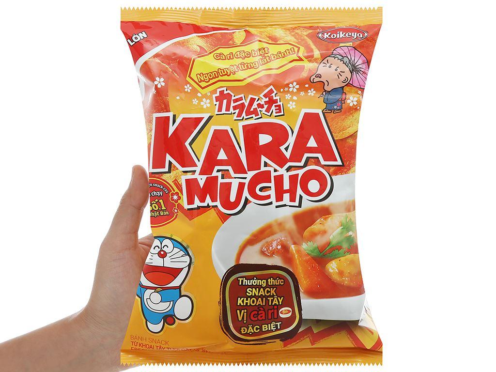 Snack khoai tây vị cà ri đặc biệt Karamucho gói 44g 5