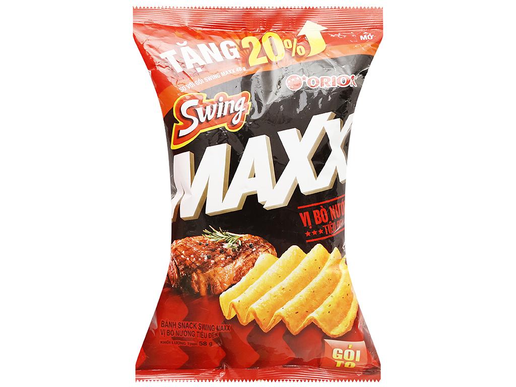 Snack khoai tây Swing vị bò nướng tiêu đen gói 58g 1