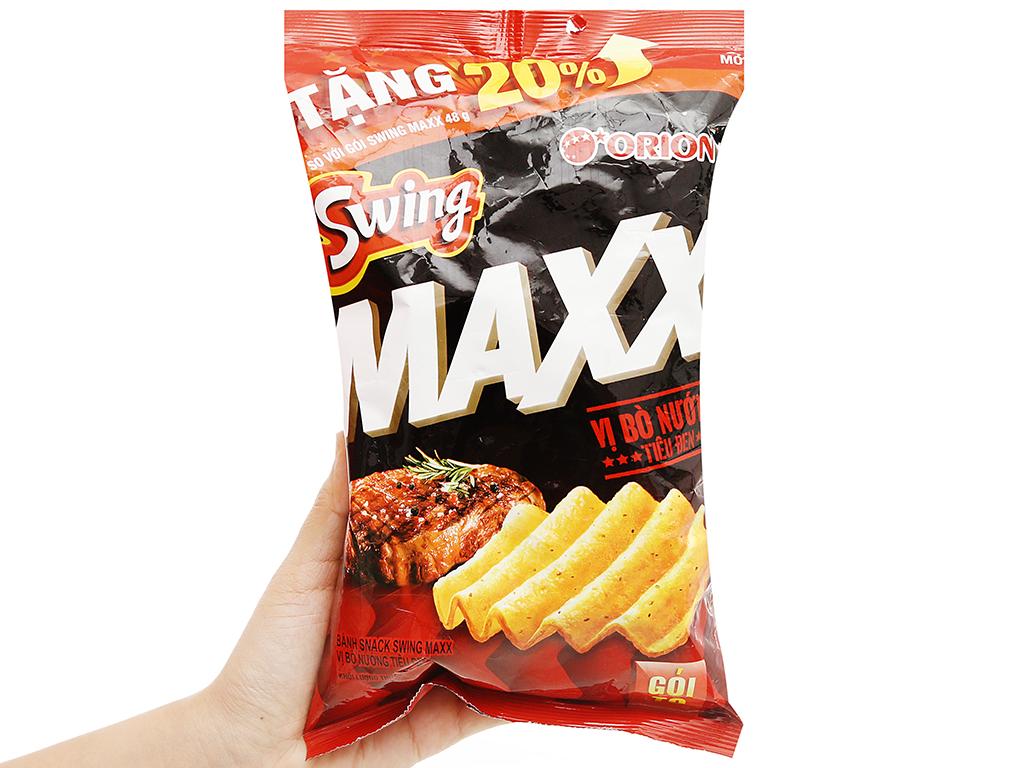 Snack khoai tây Swing vị bò nướng tiêu đen gói 58g 4