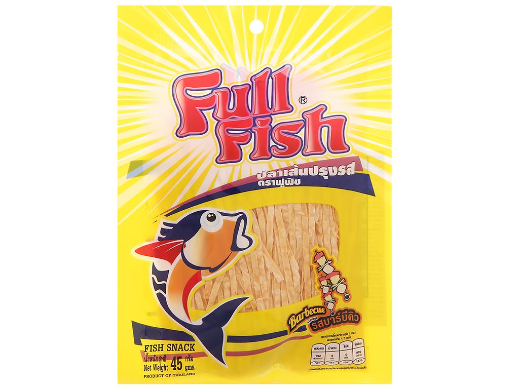 Snack Cá Full Fish vị BBQ gói 45g 1