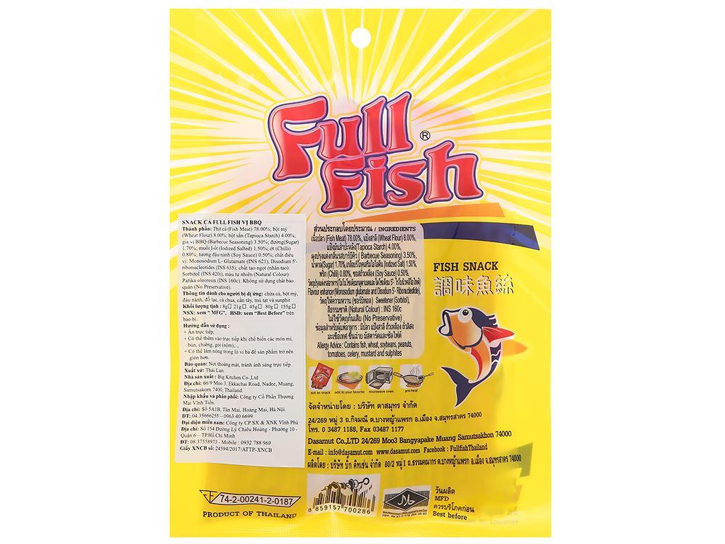Snack vị bbq Cá Full Fish gói 45g 2