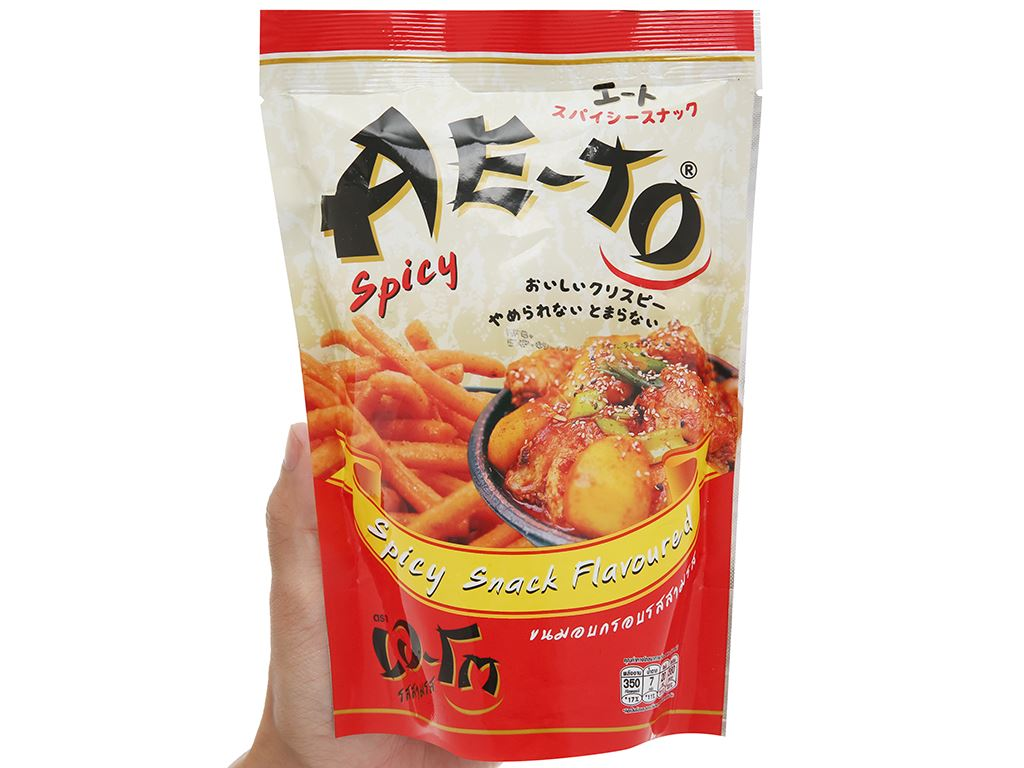 Snack vị cay Ae-to gói 65g 4