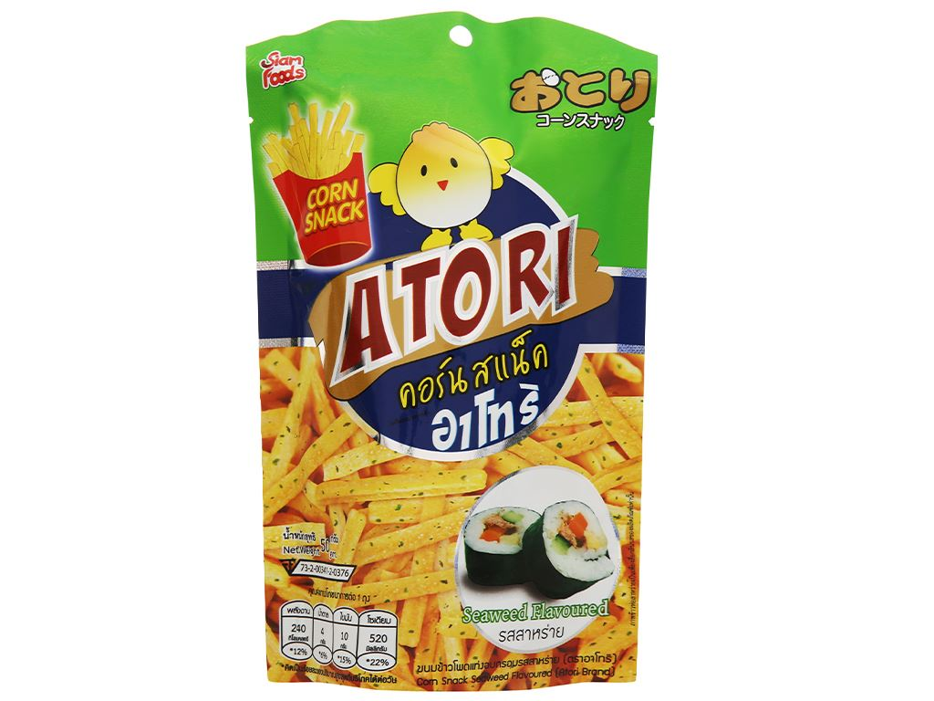 Snack bắp kiểu Pháp vị rong biển Atori gói 50g 1