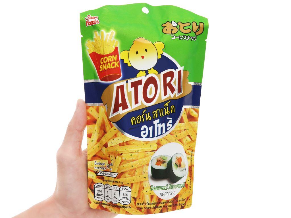 Snack bắp kiểu Pháp vị rong biển Atori gói 50g 4