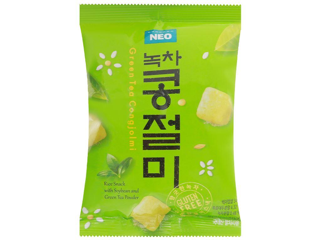 Snack gạo đậu nành trà xanh Neo gói 60g 1