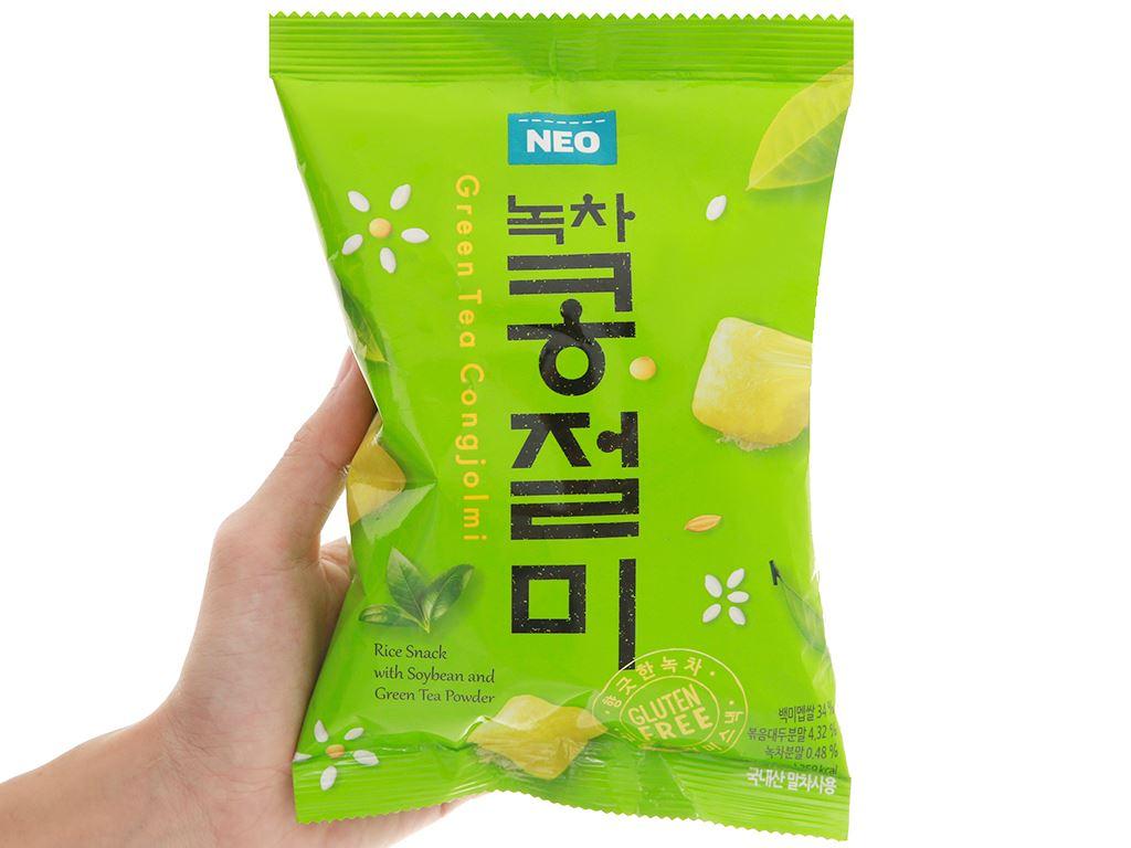 Snack gạo đậu nành trà xanh Neo gói 60g 4