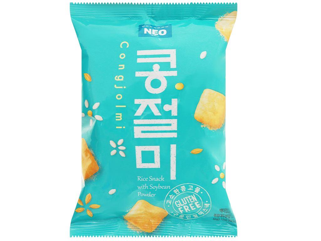 Snack gạo đậu nành Neo gói 60g 1