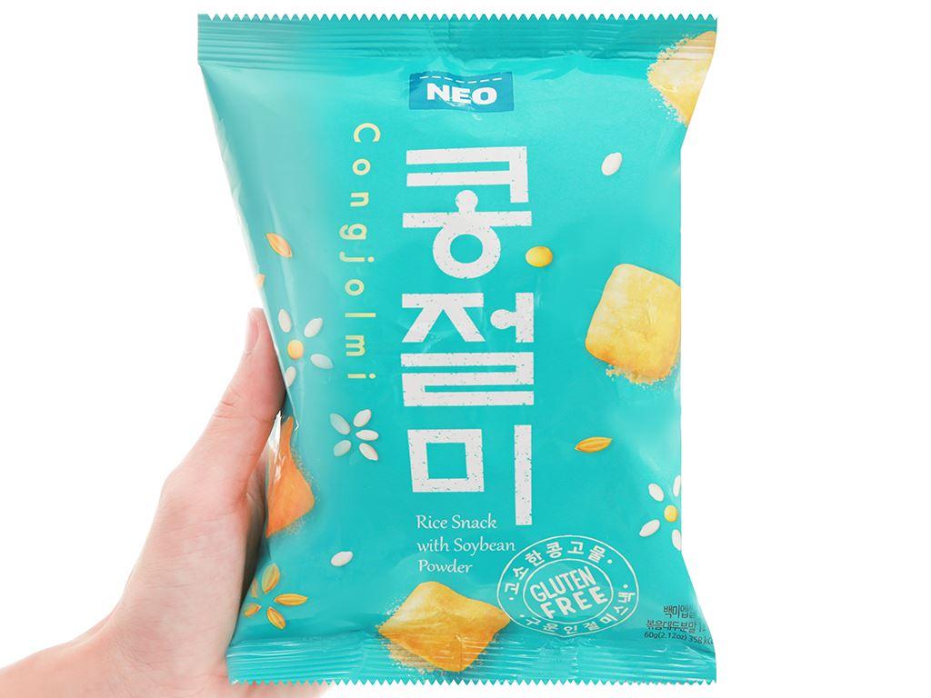 Snack gạo đậu nành Neo gói 60g 4