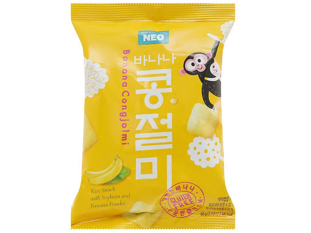 Snack gạo đậu nành chuối Neo gói 60g 1
