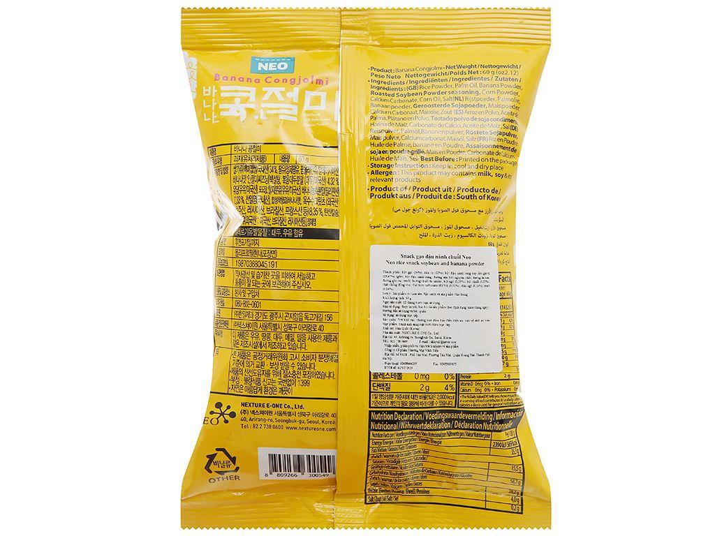 Snack gạo đậu nành chuối Neo gói 60g 2