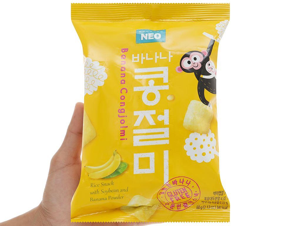 Snack gạo đậu nành chuối Neo gói 60g 4