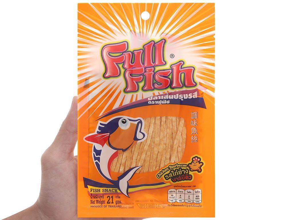 Snack Cá Full Fish vị gà nướng gói 21g 4