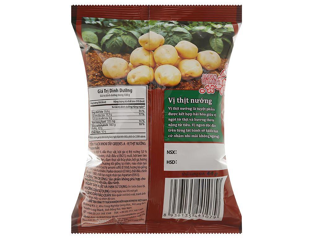 Snack khoai tây Green's A vị thịt nướng gói 44g 2