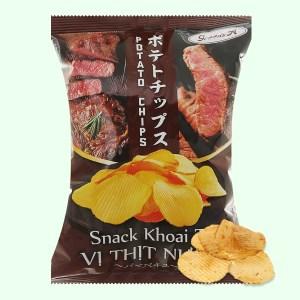 Snack khoai tây Green's A vị thịt nướng gói 44g