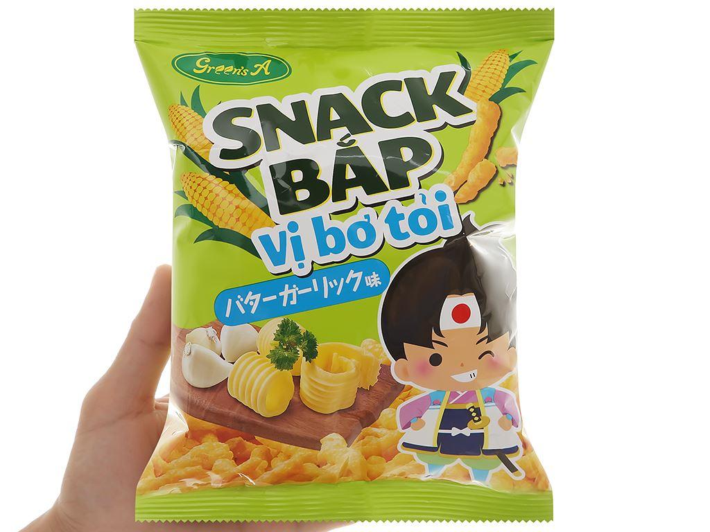Snack bắp Green's A vị bơ tỏi gói 36g 5