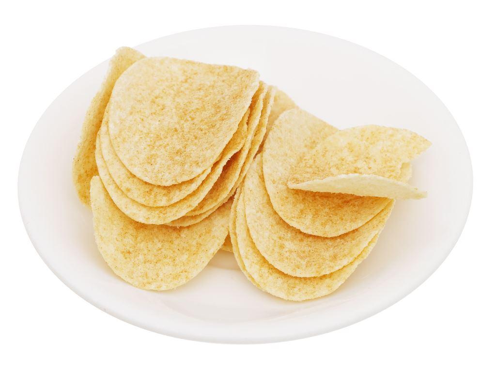 Snack khoai tây vị vịt quay bắc kinh Peke Potato Chips lon 80g 7