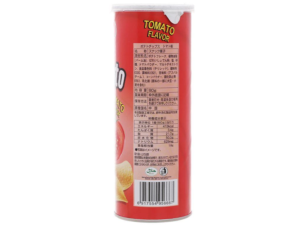 Snack khoai tây vị cà chua Peke Potato Chips lon 80g 3