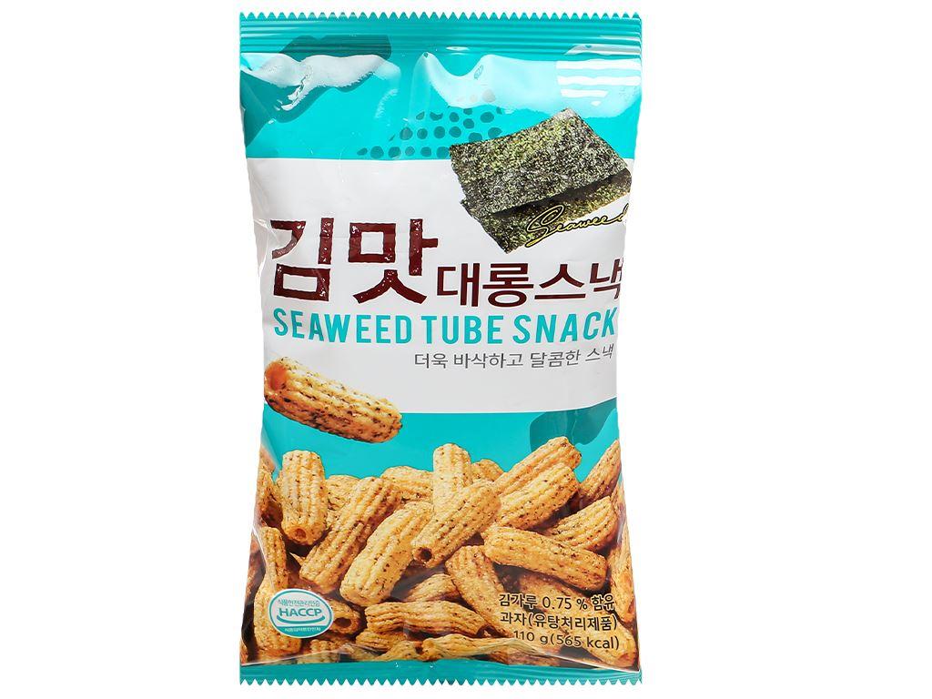 Snack gạo vị rong biển Dong Hwa gói 110g 1