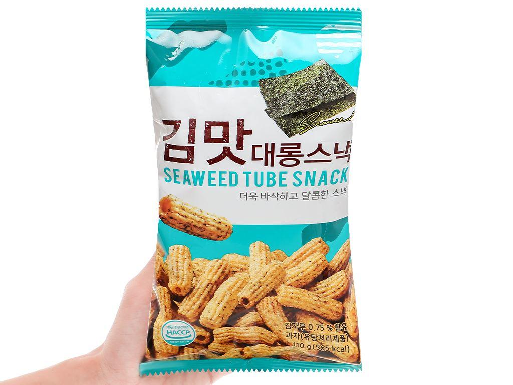 Snack gạo vị rong biển Dong Hwa gói 110g 4