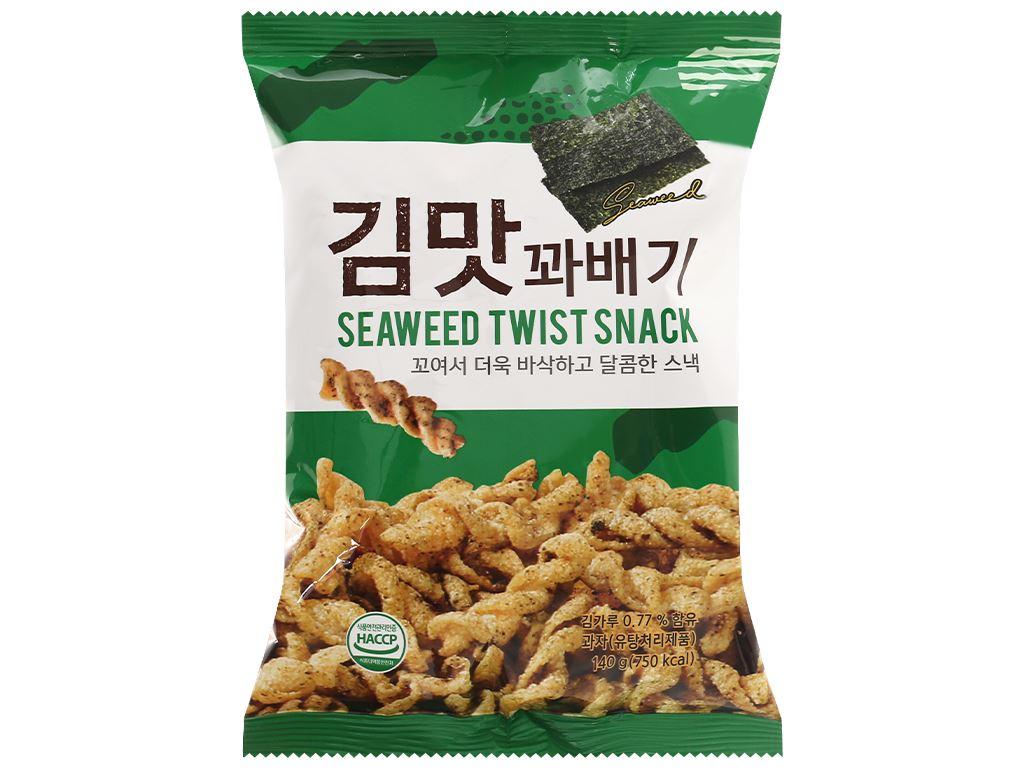 Snack quẩy xoắn vị rong biển Dong Hwa gói 140g 1