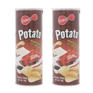 Combo 2 lon snack khoai tây vị vịt quay Bắc Kinh Peke Potato Chips
