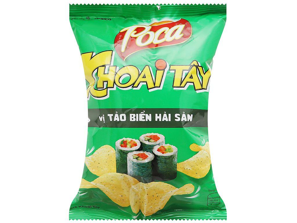 Snack khoai tây tảo biển hải sản Poca gói 25g 1