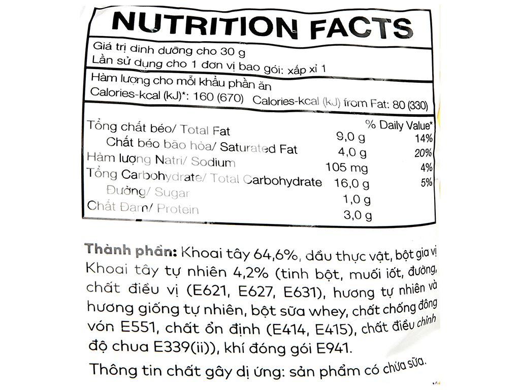 Snack khoai tây vị tự nhiên Poca gói 25g 3