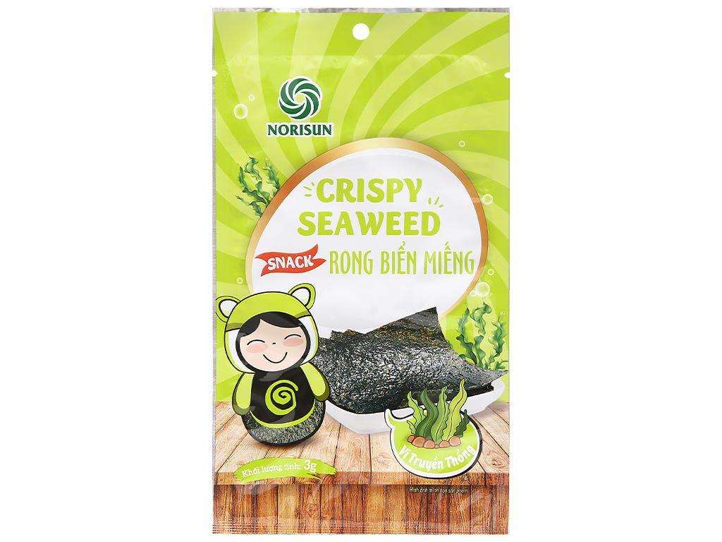 Snack rong biển miếng vị truyền thống Norisun 3g 1