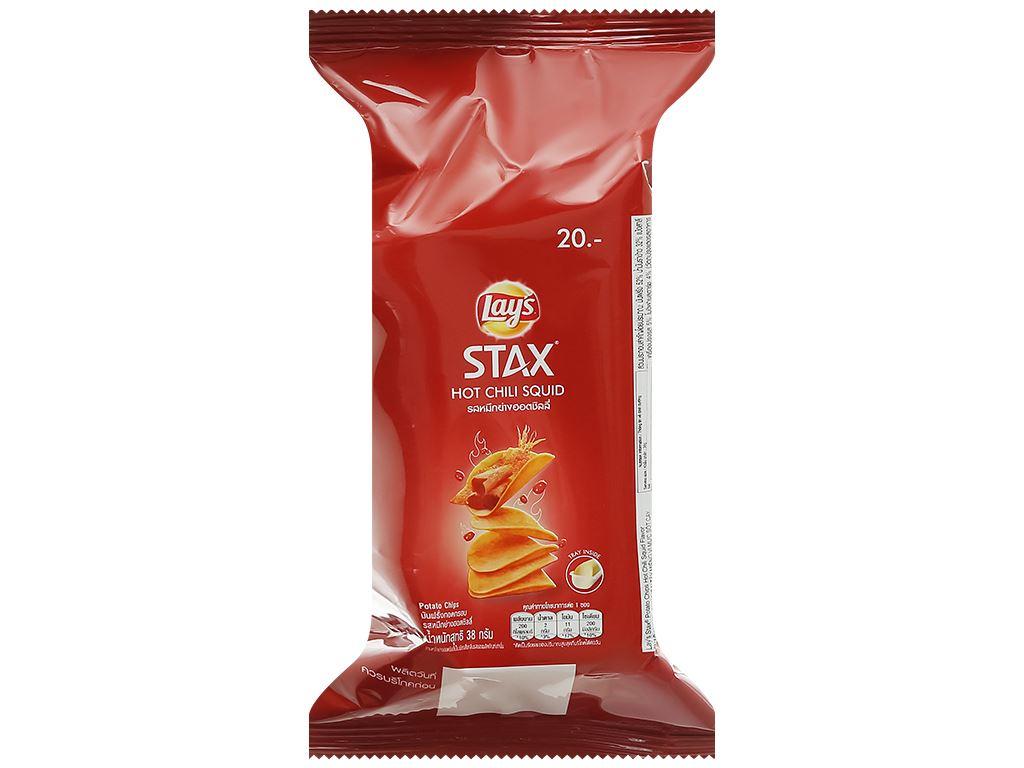 Snack khoai tây vị mực sốt cay Lay's stax gói 38g 1