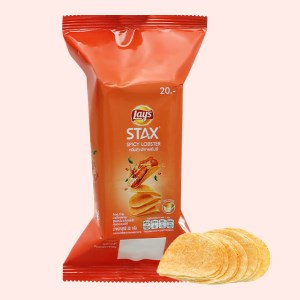 Snack khoai tây vị tôm hùm nướng Lay's stax gói 38g