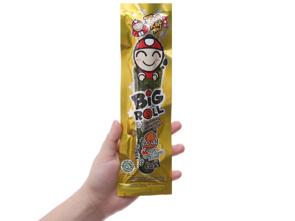 Snack rong biển vị mực Tao Kae Noi Big Roll gói 3.6g 5