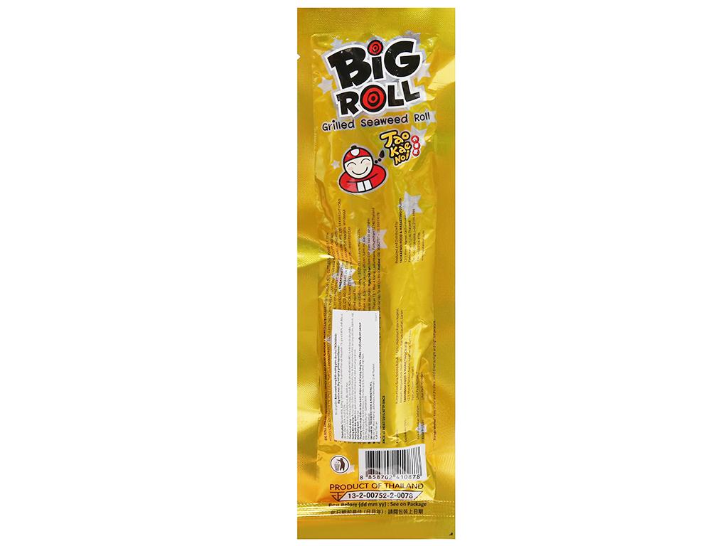Snack rong biển vị mực Tao Kae Noi Big Roll gói 3.6g 7