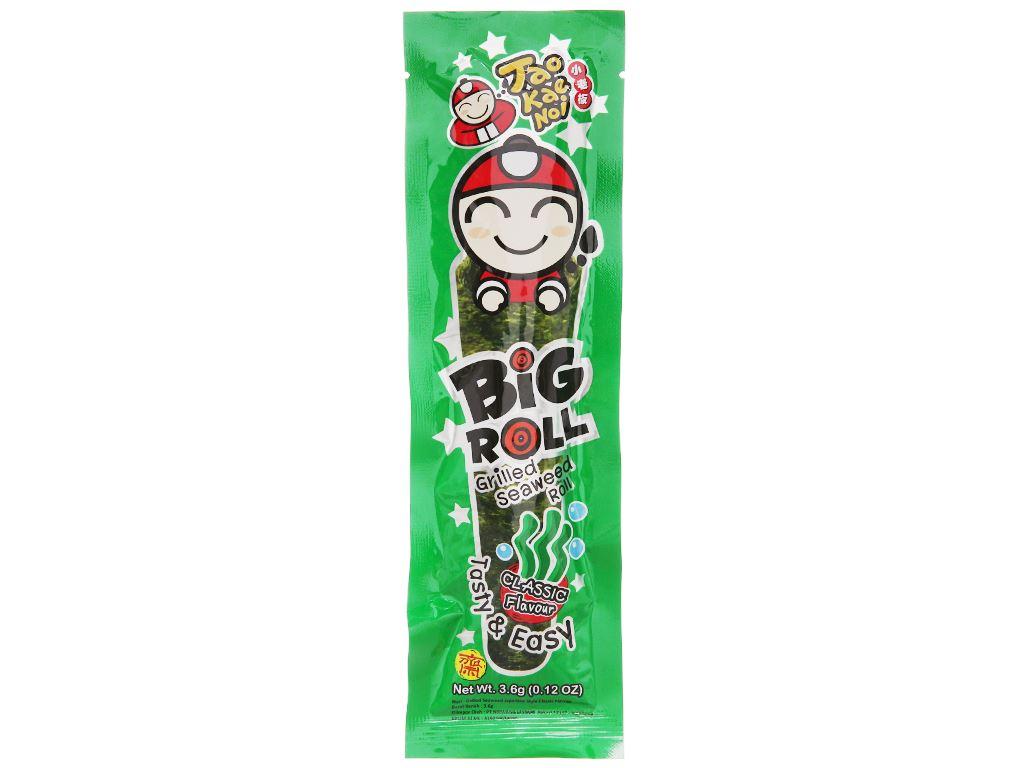 Snack rong biển vị truyền thống Tao Kae Noi Big Roll gói 3g 2