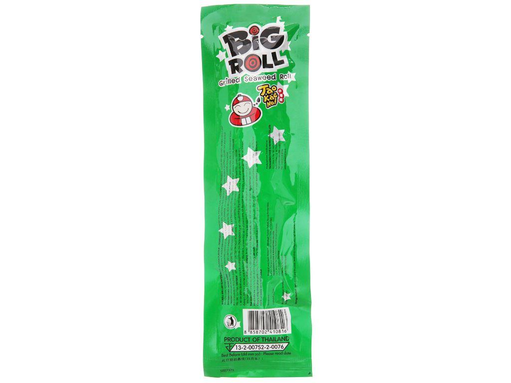 Snack rong biển vị truyền thống Tao Kae Noi Big Roll gói 3g 3