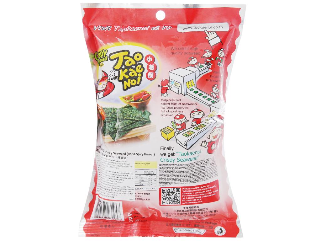 Snack rong biển giòn vị cay Tao Kae Noi gói 15g 6