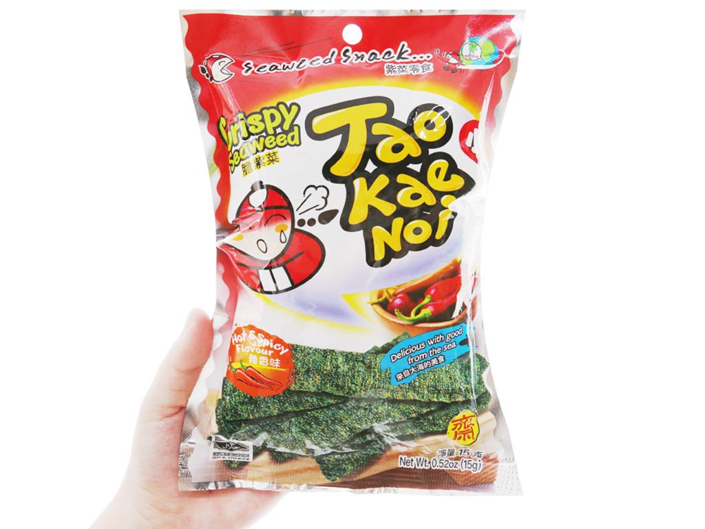 Snack rong biển giòn vị cay Tao Kae Noi gói 15g 7