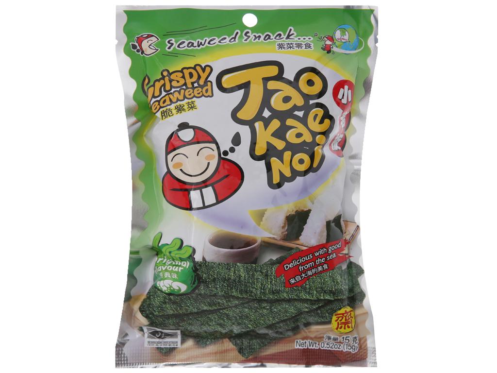 Snack rong biển giòn vị truyền thống Tao Kae Noi gói 15g 1