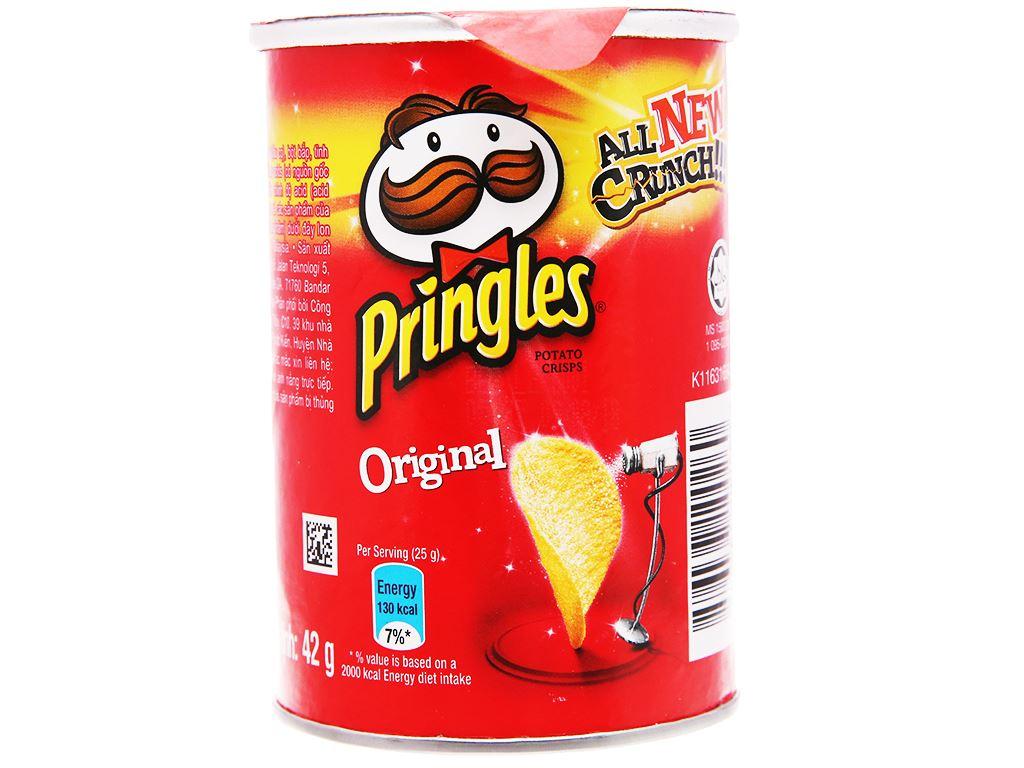 Snack khoai tây vị truyền thống Pringles lon 42g 2