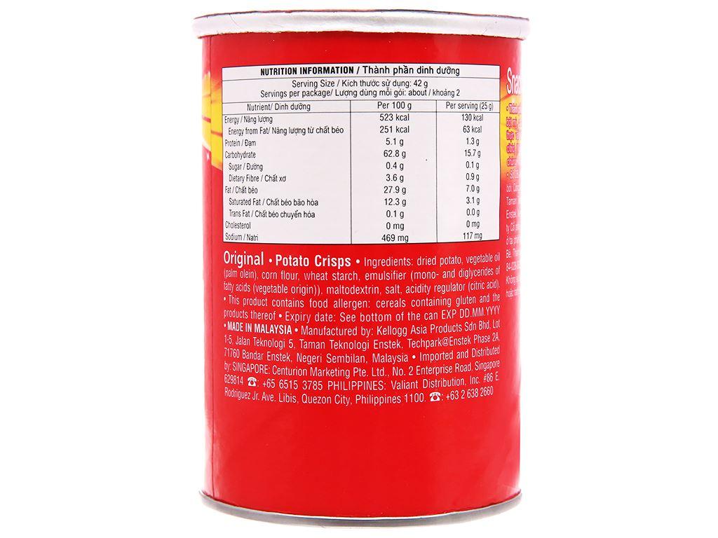 Snack khoai tây vị truyền thống Pringles lon 42g 3