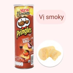 Snack khoai tây vị smoky bbq Pringles lon 107g