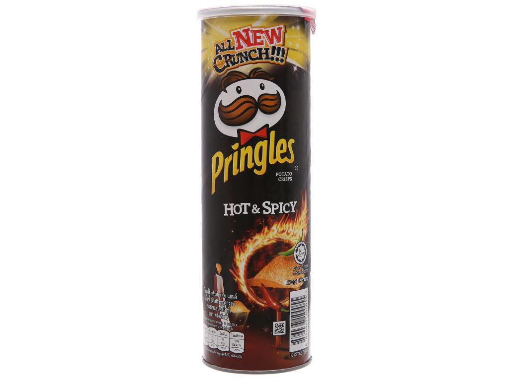 Snack khoai tây vị cay đặc biệt Pringles lon 107g 1